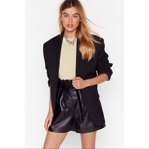 Nasty Gal Black Button-Down Blazer